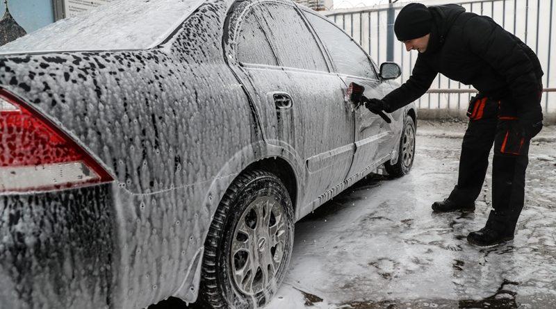 мыть машину зимой