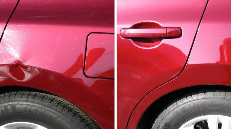 устранение вмятин и царапин на авто