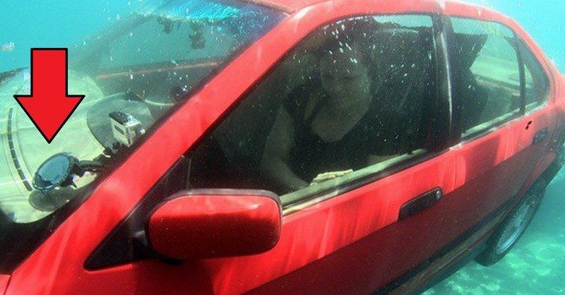 как выбраться из тонущего автомобиля