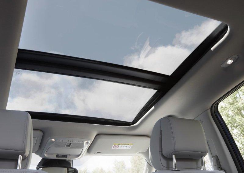 Renault Koleos 2017-2018 панорамные окна