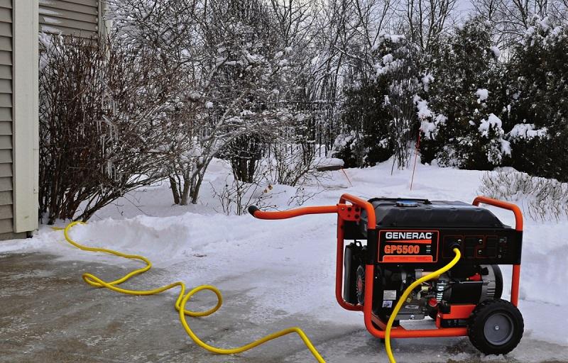 бензиновый генератор работает на морозе
